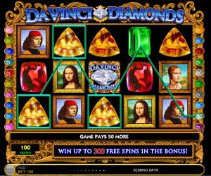 Da Vinci Diamonds Slots play demo